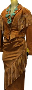 Brown Suede Maxi Dress by