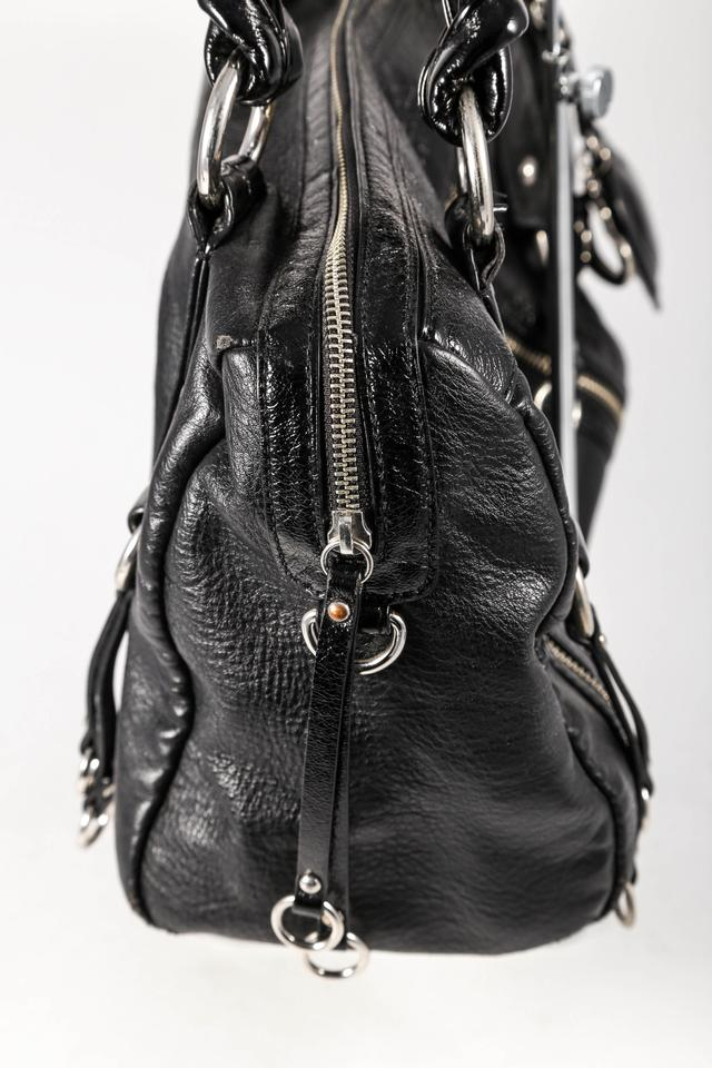 bebe * Leather Double Zip Studded Shoulder Bag on Sale, 22% Off ...