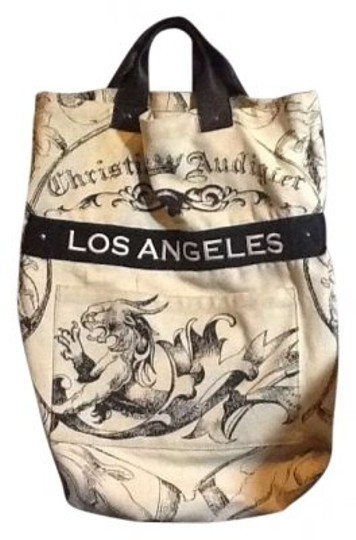 Preload https://img-static.tradesy.com/item/128167/christian-audigier-beige-cotton-with-leather-handles-tote-0-0-540-540.jpg