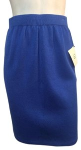 St. John Santana Knit Size 2 Skirt Bright Blue