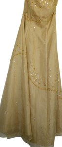 Morgan & Co Strapless Beaded Prom Dress