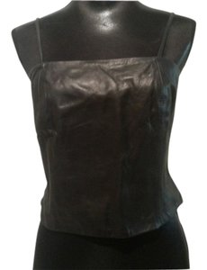 Nine West Leather Cami Top Black