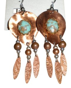 Other DANIN COPPER AND TURQUOISE EARRINGS