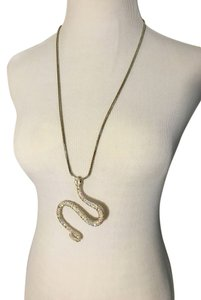 Retro sparkly snake pendant on silver chain