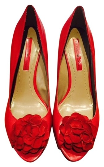 Bandolino Peep Toe Flower Party Red Pumps