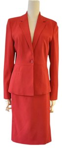 Prada Red Skirt Jacket Suit 6