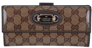 Gucci New Gucci 231841 Crystal Canvas GG Guccissima W/Coin Continental Clutch Wallet