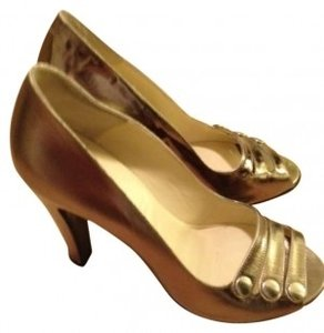 Marc Jacobs Formal Occasion Gold Pumps