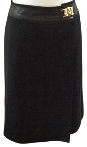 Céline Chic European Designer Career Skirt Black