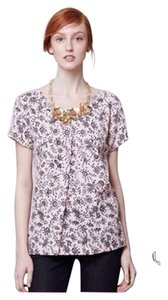 Anthropologie Portrait Girl Pleated Top Pink,