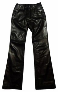 Andrew Marc Leather Boot Cut Jeans-Coated