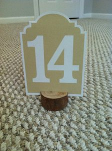 Table Numbers And Mini Tree Holder