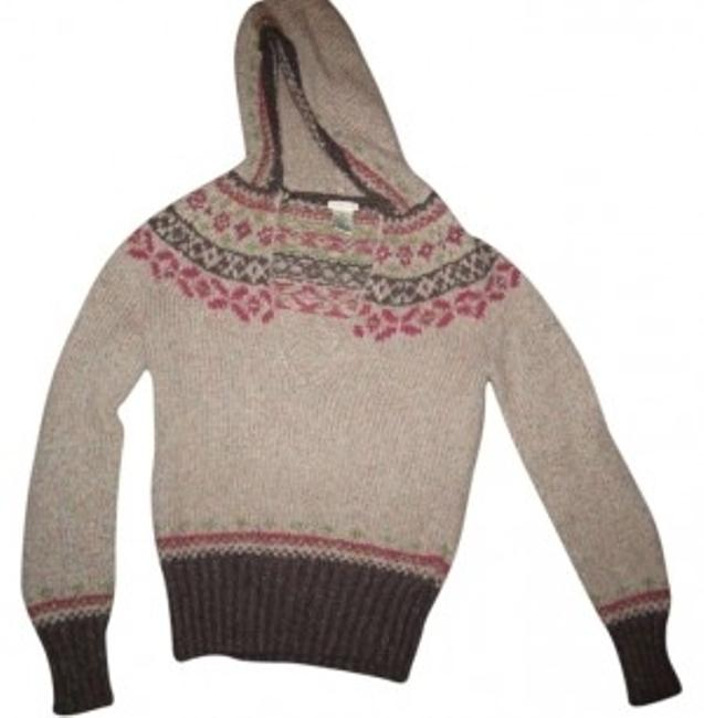 Preload https://item4.tradesy.com/images/maurices-brownbeige-hooded-sweaterpullover-size-8-m-128193-0-0.jpg?width=400&height=650