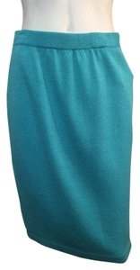 St. John Collection Classic Size 4 Blue Skirt Blue Curacao