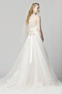 Wtoo Ivory and Antique Oatmeal English Net Lace Bellavista Traditional Wedding Dress Size 16 (XL, Plus 0x)