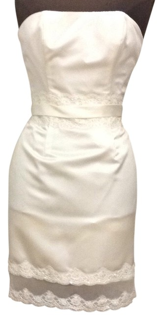 Item - Ivory 5032ssa Above Knee Cocktail Dress Size 6 (S)