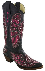 Corral Boots Black/Pink Boots