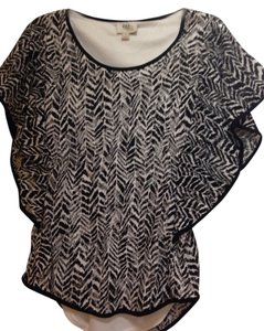 ECI New York Top Black See Thru Lace With White Top Underneath