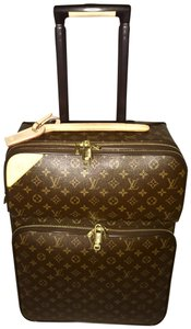 Louis Vuitton Pegase Business Luggage Carry-on Monogram Brown Travel Bag