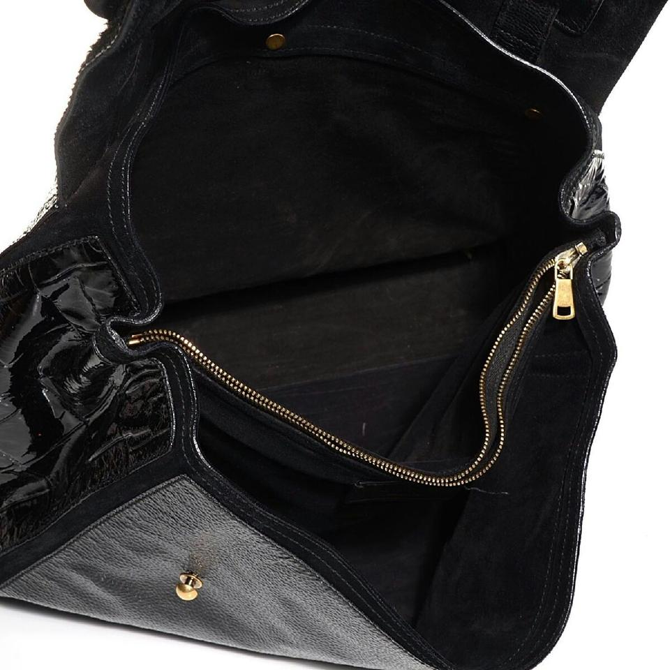 Saint Laurent Muse Two Muse Yves Patent Pony Hair Large Black Leather  Shoulder Bag - Tradesy c73e3c65dcf39