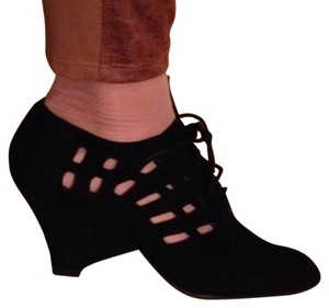 Jeffrey Campbell Black Suede Wedges