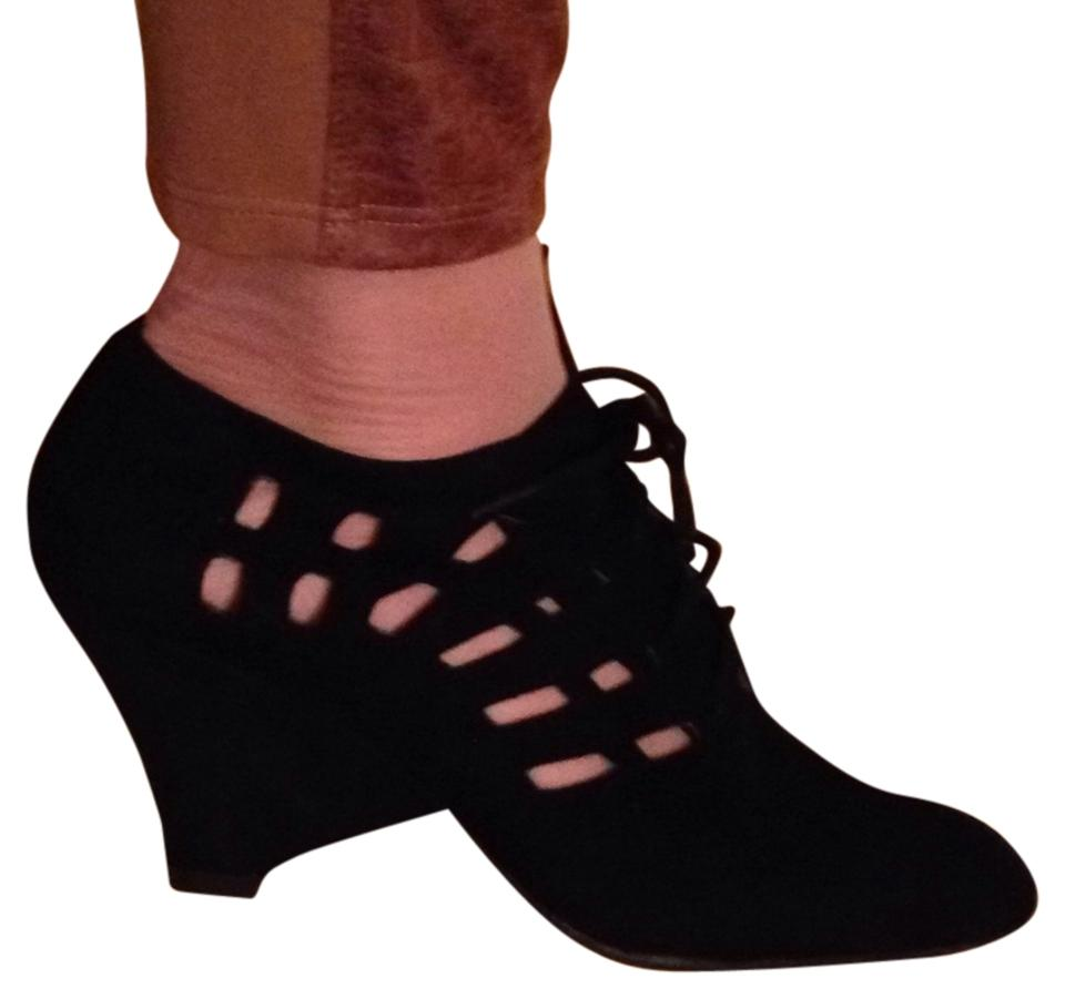 Jeffrey Suede Campbell Black Suede Jeffrey New- Way Out Wedges ae3df1