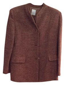 Joan & David Tweed Rust Blazer