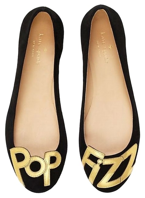 Item - Black Suede / Gold New York Toast Flats Size US 5.5