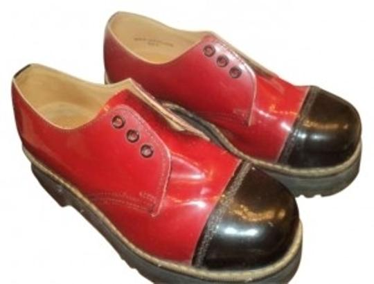 Dr. Martens Red with Black toe Mules