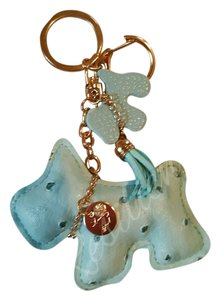 Charmed Auqa blue scottie purse charm/ key fob