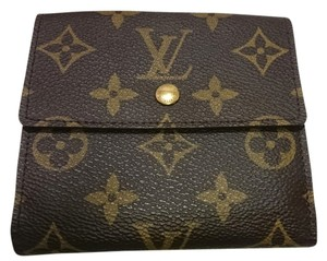 Louis Vuitton [Authentic] LOUIS VUITTON Bifold Wallet Monogram Brown made in France (outside like new)