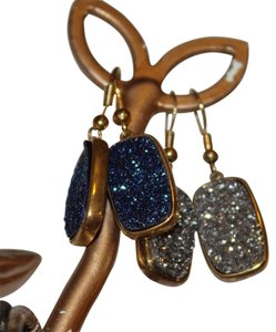 Andara ANDARA BLUE DRUZY EARRINGS (Blue Pair)