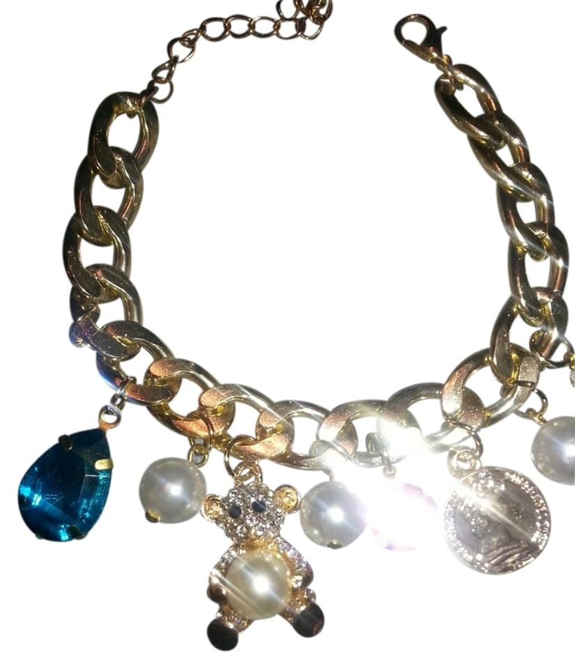 5a91762e4161c Nordstrom Gold Chunky Teddy Bear Multi Charm From Bracelet 68% off retail