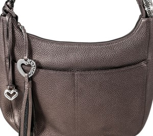 Brighton Barbados Ziptop Hobo Shoulder Bag