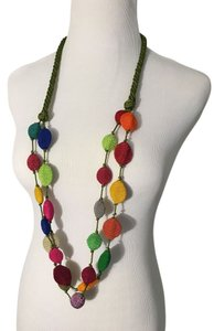 From Morocco! Unique and beautiful multi-colored woven necklace.