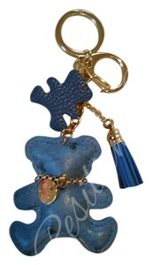Charmed Blue bear purse charm/ key fob