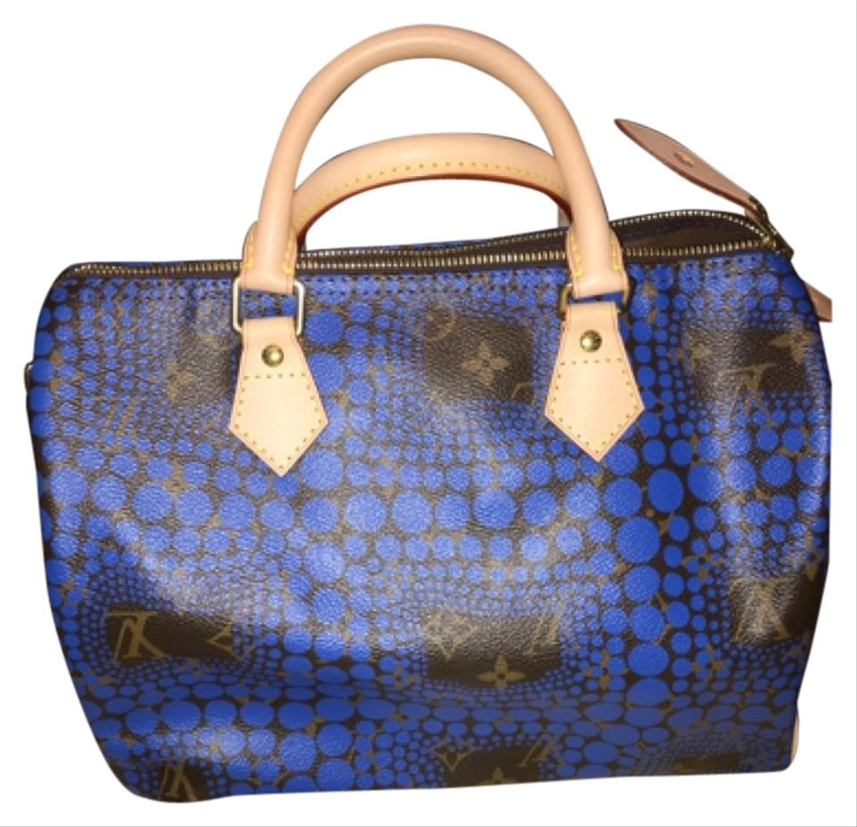 a47ff762431a Louis Vuitton Yayoi Kusama Speedy 30 Limited Edition Satchel in Blue Image  0 ...