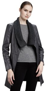 Elie Tahari grey Leather Jacket