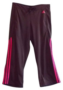 adidas Nwot Small Capris Gray and Hot Pink