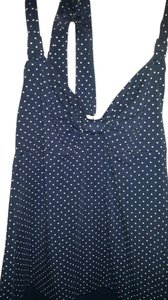 American Eagle Outfitters short dress Navy Blue & White Polka Dots Dot Halter Comfortable Cotton Machine Washable on Tradesy