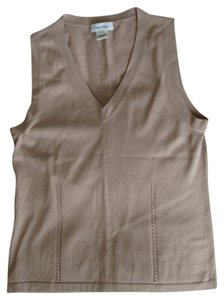 Calvin Klein Knit Sleeveless Shell Vest Sweater