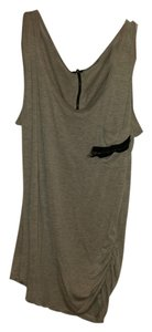 Unknown Sleeveless Casual Comfortable Cotton Detail Machine Washable Top Grey