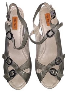 Miz Mooz Grey Wedges