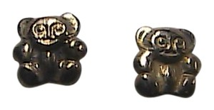 Unknown 14k Yellow Gold Child Teddy Bear Stud Earrings