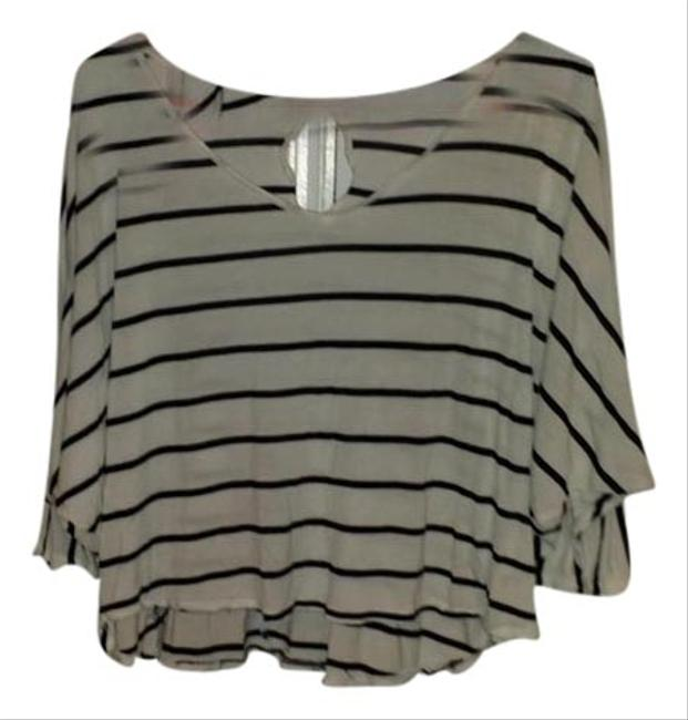 Preload https://item5.tradesy.com/images/express-white-w-black-stripes-striped-cotton-casual-t-shirt-1282454-0-0.jpg?width=400&height=650