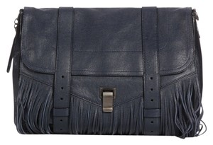 Proenza Schouler Navy Fringe Belts Ps.k0125.03 Ps1 Blue Messenger Bag