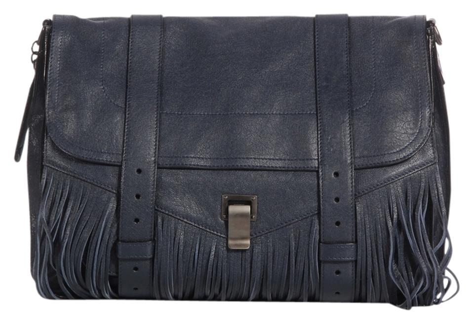 2a3a1b7d3ca Proenza Schouler Navy Fringe Belts Ps.k0125.03 Ps1 Blue Messenger Bag ...