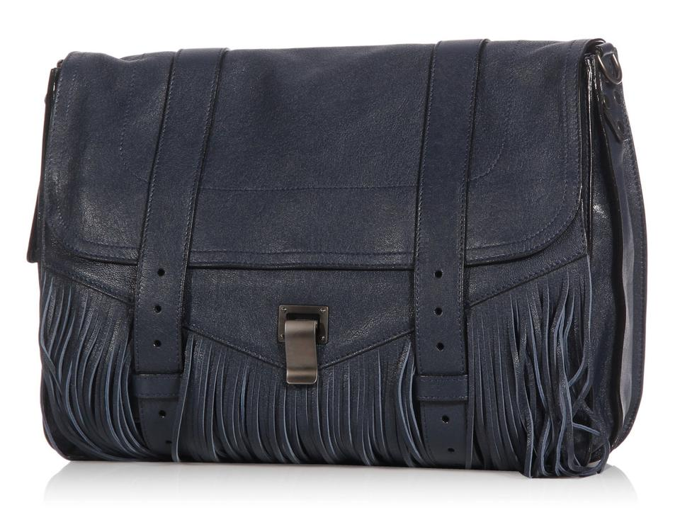 f05c0b18bc7 Proenza Schouler Ps1 Fringe Runner Midnight Navy Blue Leather ...