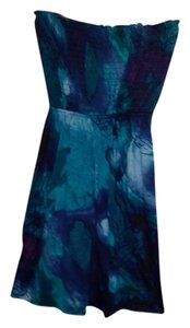 Mossimo Supply Co. short dress Blue Tie Dye Halter Comfortable Machine Washable on Tradesy