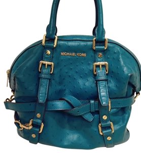Michael Kors Teal Tote Crossbody Pebbled Satchel in Blue